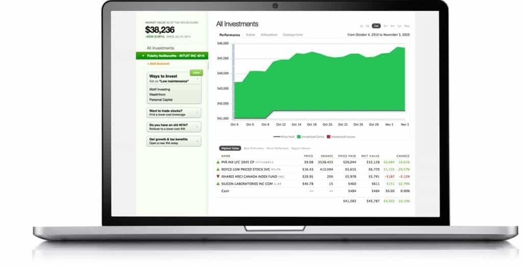 outils de suivi des investissements pour Mac
